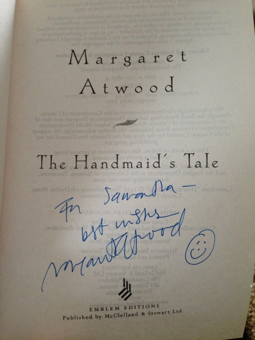 My Margaret Atwood autograph